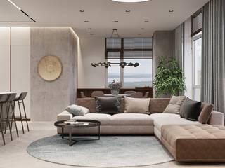 Tobi Architects Salas de estilo minimalista Beige