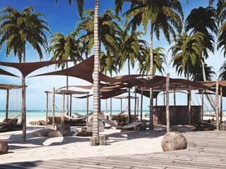 Balcones y terrazas de estilo tropical de Carlos Gallego Tropical