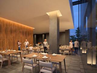 Salón de usos múltiples: Salas de estilo  por NEU ARQUITECTURA