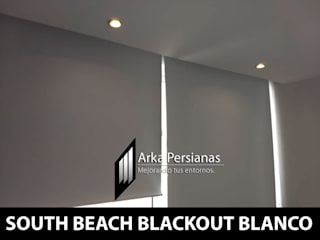 Enrollables Blackout color Blanco: Persianas de estilo  por Arka Persianas