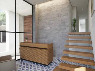 Lobby de acceso: Pasillos y recibidores de estilo  por NEU ARQUITECTURA