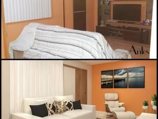 Sala RJ: Salas de estar  por Karine Venceslau Arquitetura,Eclético