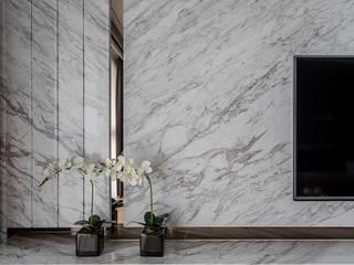 電視牆 柏爾室內設計事務所 Modern Living Room
