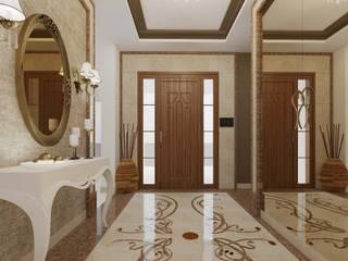 ANTE MİMARLIK Pasillos, vestíbulos y escaleras de estilo clásico Beige