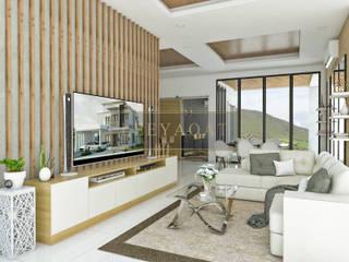 Tropische Wohnzimmer von PT. Leeyaqat Karya Pratama Tropisch
