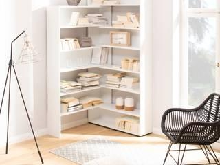 Möbel für Ecken - stapelbares Eckregal:   von noook