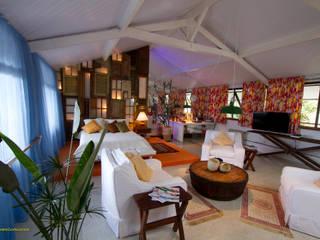 Salas de entretenimiento de estilo  por Fernando Menezes Arquitetura, Ecléctico