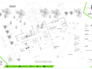 PLANTA 1: Villas de estilo  por TALLARQ