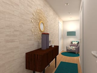 Projecto Decoração de Interiores Vivenda em Cortegaça Corredores, halls e escadas modernos por Versatilis Inovação Design Moderno