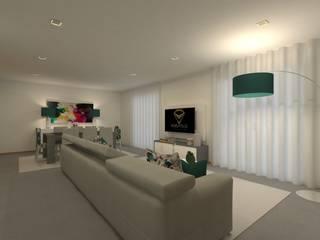 FS Salas de estar modernas por Versatilis Inovação Design Moderno