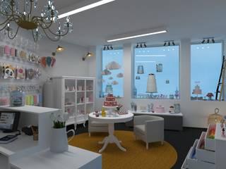 Projecto 3D Loja Cake Design Espaços comerciais modernos por Versatilis Inovação Design Moderno