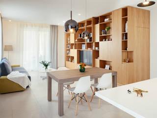 manuarino architettura design comunicazione Modern living room Wood