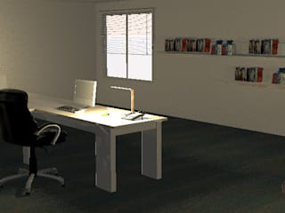 Minimalistika.com Minimalist offices & stores Chipboard White