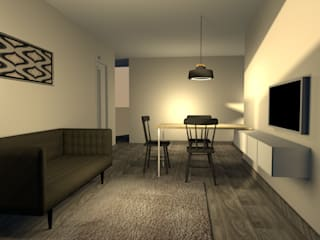 Minimalistika.com Minimalist living room Chipboard White