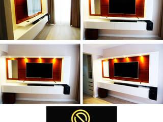Mueble tv - dormitorio principal:  de estilo  por DIS.OLIVER QUIJANO