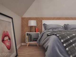 Scandinavian style bedroom by hexaform Scandinavian