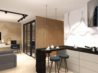 Дизайн интерьера однокомнатной квартиры.: Гостиная в . Автор – Екатерина Александрова