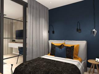 Дизайн интерьера однокомнатной квартиры.: Спальни в . Автор – Екатерина Александрова