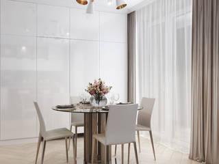 Квартира-студия в современном стиле Столовая комната в стиле минимализм от 'PRimeART' Минимализм