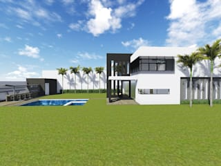 Proyecto Casa Habitación FC:  de estilo  por BOCA ARQUITECTOS