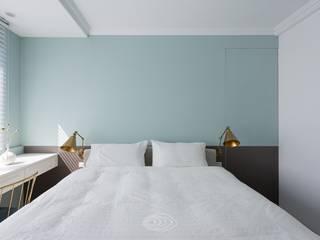 復古歐風X美式鄉村 層層室內裝修設計有限公司 臥室