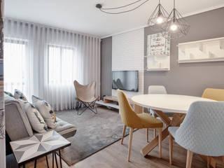 Sala de estar | Sala de Jantar:   por EMME Atelier de Interiores