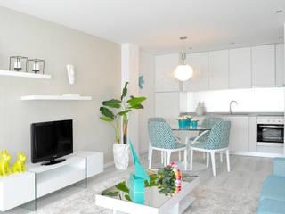 Sala de estar | Sala de Jantar: Salas de estar  por EMME Atelier de Interiores