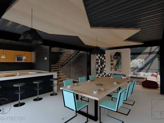 AMBIGUO: Cocinas equipadas de estilo  por GóMEZ arquitectos, Industrial