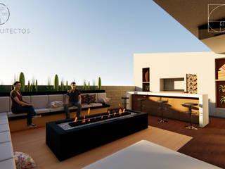ระเบียง, นอกชาน โดย GóMEZ arquitectos, โมเดิร์น