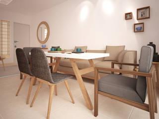 Casa Cozumel: Comedores de estilo  por Escaleno Taller de Diseño