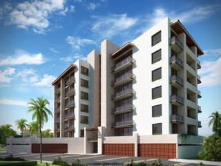 VILLA TOSCANA: Condominios de estilo  por Isaac Flores Arquitectura y Arte,