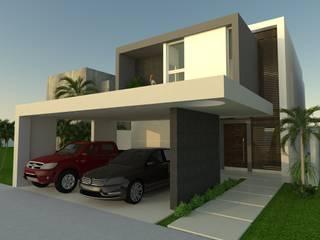 Libano 17 - Residencial Cumbres: Casas unifamiliares de estilo  por Isaac Flores Arquitectura y Arte,
