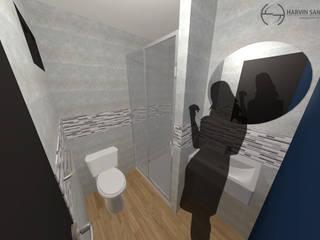 Vivienda de 3 pisos independientes: Baños de estilo  por Arquitecto Harvin Sanchez Areniz