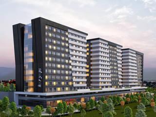ANTE MİMARLIK  – Karyapı Bornova Konutları:  tarz Apartman