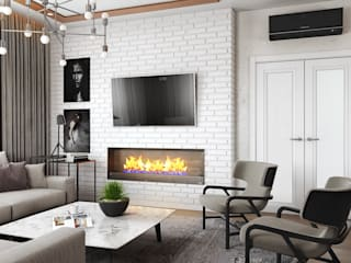 Eklektik Oturma Odası Zibellino.Design Eklektik