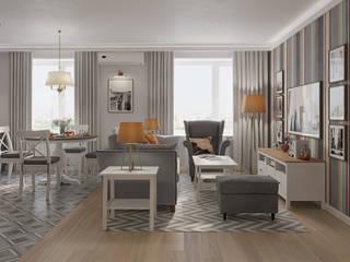 Квартира для молодой семьи: Гостиная в . Автор – Givetto Casa