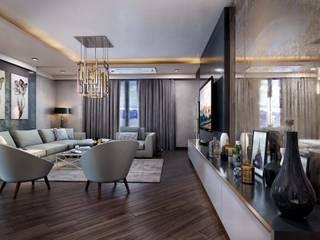 ANTE MİMARLIK Salones de estilo moderno