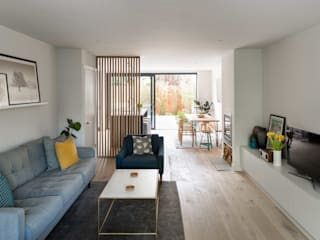 Greenwich Semi-Detached House, London Salas de estar modernas por Designcubed Moderno