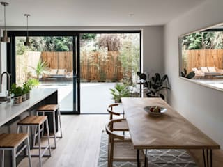 Greenwich Semi-Detached House, London Cozinhas modernas por Designcubed Moderno