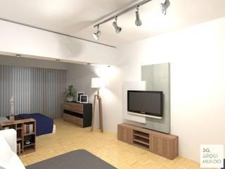 Salon moderne par Arquimundo 3g - Diseño de Interiores - Ciudad de Buenos Aires Moderne
