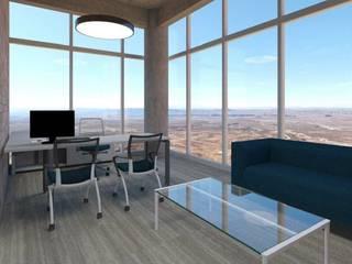 Oficinas de estilo moderno de HERRERA ARQUITECTOS Moderno