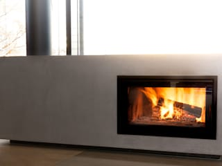 kiimoto kamine Living roomFireplaces & accessories Concrete Beige