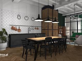 Mieszkanie w kamienicy - Przemyśl Nowoczesna kuchnia od e-wnetrza.pl - Architekci wnętrz on-line Nowoczesny