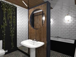 Mieszkanie w kamienicy - Przemyśl Nowoczesna łazienka od e-wnetrza.pl - Architekci wnętrz on-line Nowoczesny