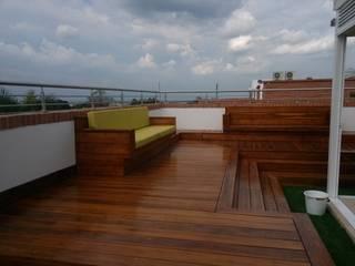 TERRAZA MIRADOR. Balcones y terrazas de estilo moderno de VILLEGAS ARQUITECTOS SAS Moderno
