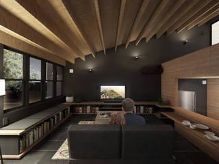 千葉の住宅: CIRCLEが手掛けたリビングです。