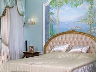 Интерьер спальни в классическом стиле: Спальни в . Автор – интерьеры от частного дизайнера