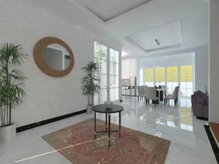 W HOUSE:  Koridor dan lorong by Atelier BAOU+