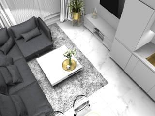 Salon: styl , w kategorii Salon zaprojektowany przez 91m2 Architektura Wnętrz