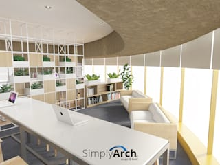 Office Project at Central Jakarta Bangunan Kantor Modern Oleh Simply Arch. Modern